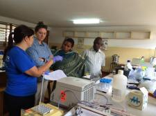 Teaching students from Univesity of Florida and Great Lakes University in Kisumu, Kenya on molecular diagnostic techniques